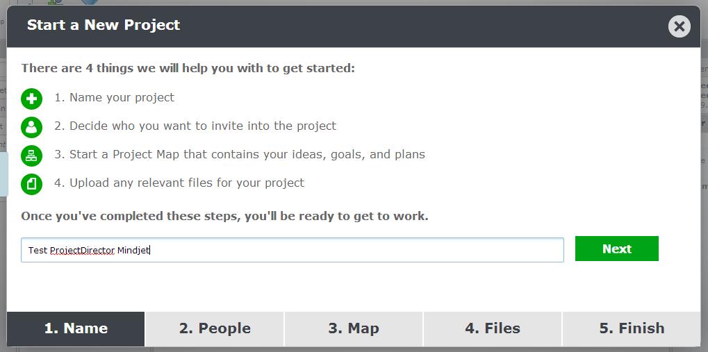 Stap 1 projectsdirector